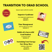 Transition to Grad School Series | Graduate Education & Life