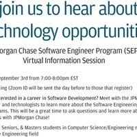 JP Morgan Chase Software Internship Info Session