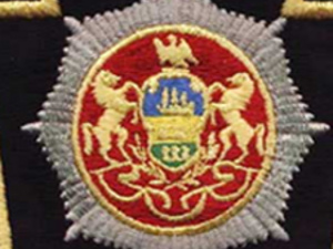 Detail of Pennsylvania State Seal on PA State Police Insignia