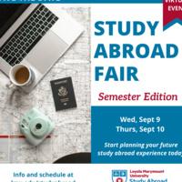 Study Abroad Fair: Semester Edition