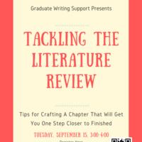 Tackling the Literature Review  | Graduate Education & Life