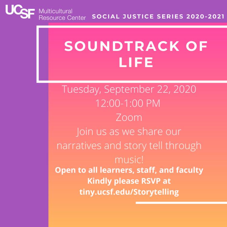 Sep 22, 2020: Soundtrack of Life: Storytelling