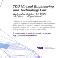 TCU Virtual Engineering & Technology Fair