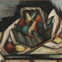 Marsden Hartley, Fruit in Basket, 1922, oil on canvas, Gift of Ralph L. Wilson '22, LUP 60 1005