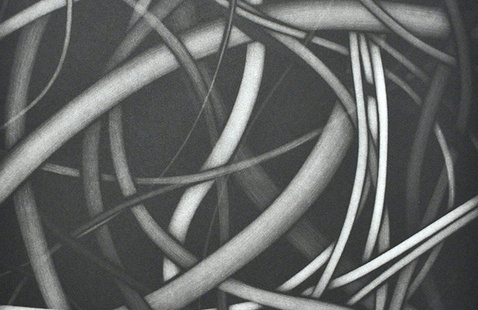 Mark Sheinkman, 10.3.2005, detail, 2005, aquatint with abrasion, SMGA Permanent Collection, Gift of William and Sara Hall.