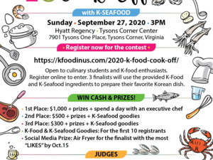 K-Food Cook-Off with K-Seafood Applications Are Open