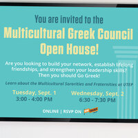 Multicultural Greek Council Open House!