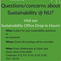 Sustainability Office Weekly Drop-In Hours