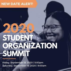 2020 Student Organization Summit Registration