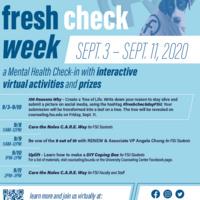 Fresh Check Week Fall 2020