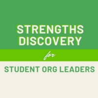 Strengths Discovery for Student Organization Leaders