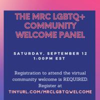 LGBTQ+ Welcome Panel