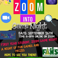 FANs First Year Zoom into Game Night Flyer