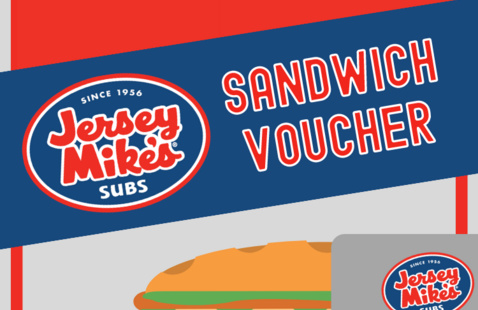 Jersey Mike's Sandwich Voucher