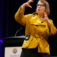 Microsoft Chief Accessibility Officer Jenny Lay-Flurrie speaks at the 2017 Harkin Summit.