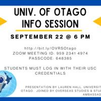 Univ. of Otago Info Session