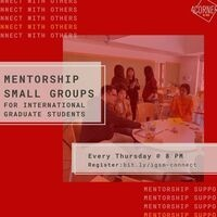 International Grad Students - Mentorship Small Group