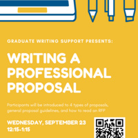Writing a Professional Proposal | Graduate Education & Life