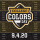 College Colors Day 9/4/20