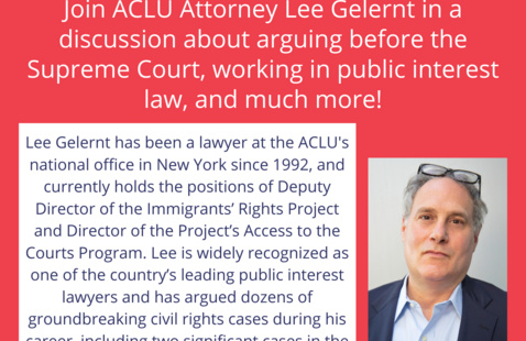 ACLU Loyola Presents: Q&A with ACLU Attorney Lee Gelernt