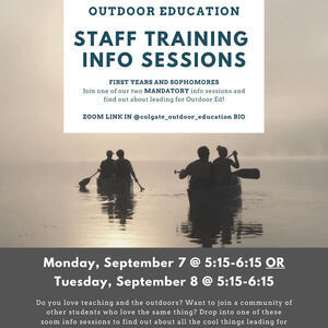 Outdoor Ed Staff Training Info Sessions