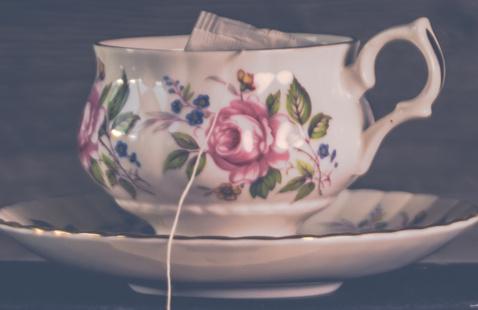 ceramic flora tea cup