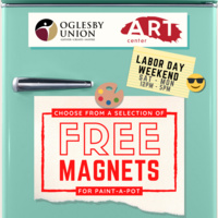 Free Magnets at The Oglesby Union Art Center