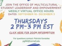 Multicultural Student Leadership and Empowerment Weekly Office Hours