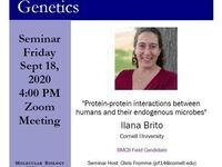 """MBG Friday Seminar: """"Protein-protein interactions between humans and their endogenous microbes"""""""