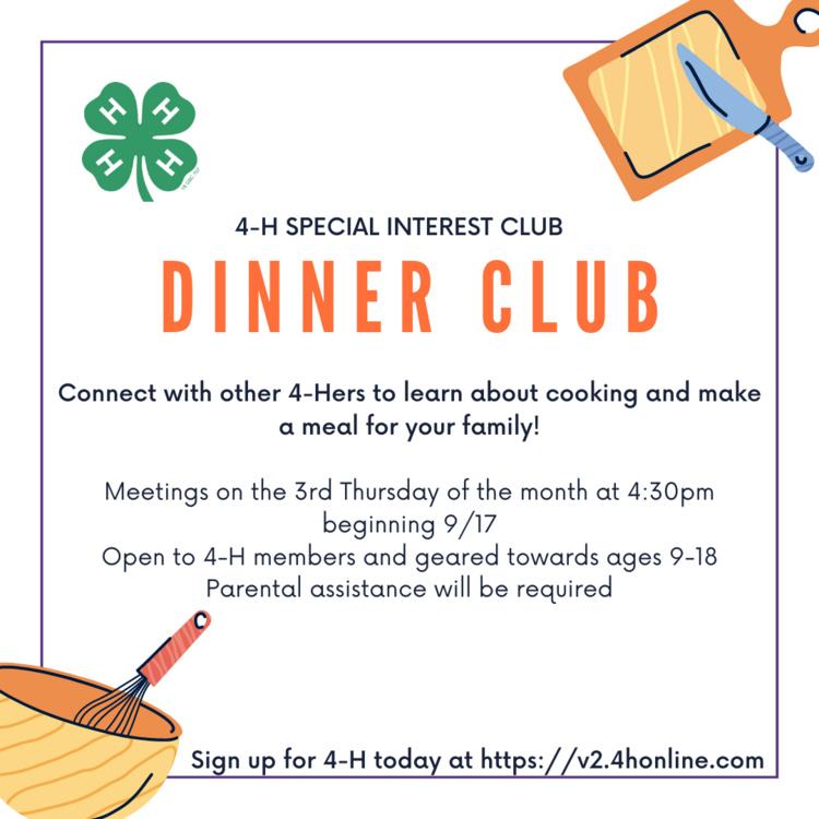 4-H Dinner Club
