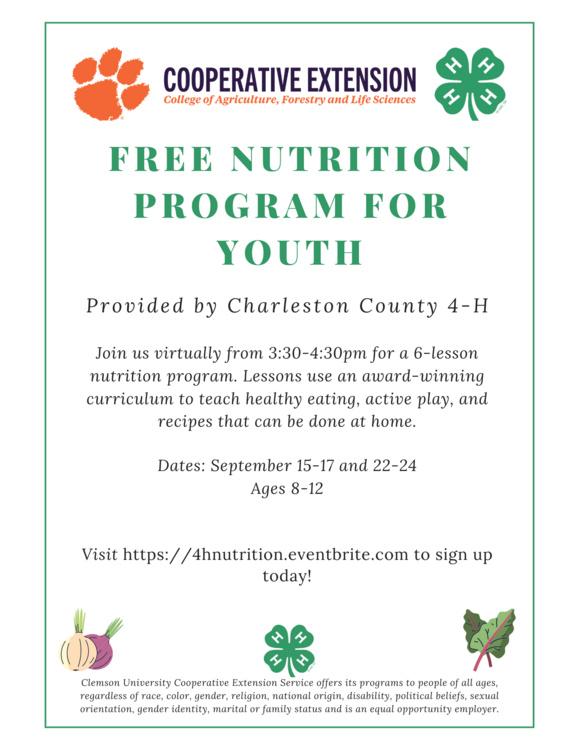 Free Youth Nutrition Program