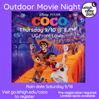 Coco - Outdoor Movie Night  | Lehigh After Dark