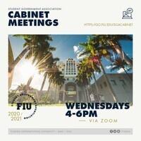 SGA Cabinet Meetings