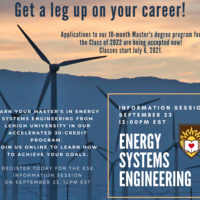 Master's in Energy System Engineering Information Session