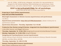 CITRAL & Instructional Development Pre-Fall Instructor Workshops