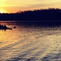Rowing team practice