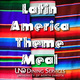 serape background with the words latin america theme meal