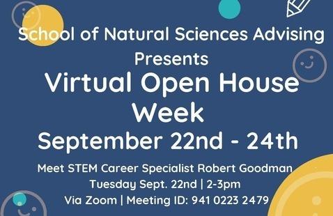 School of Natural Sciences Open House Virtual Week: Meet STEM Career Specialist Robert Goodman