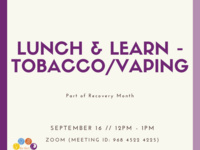 Lunch & Learn - Tobacco/Vaping