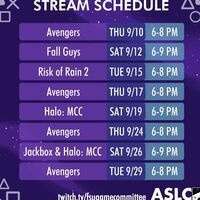 Twitch Stream Schedule