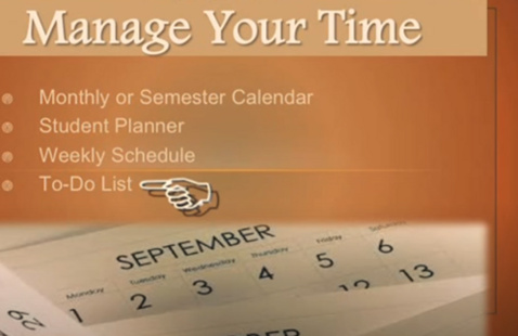 Flyer for managing your time