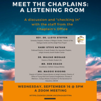 Meet the Chaplains:  A Listening Room | Chaplain's Office