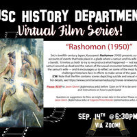 "History Department Virtual Film Series! ""Roshoman (1950)"""
