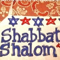 Shabbat greetings in the Hillel Backyard