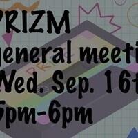 PRIZM general meeting September 16th 5pm-6pm