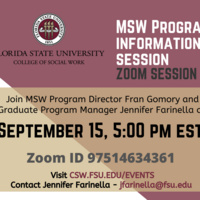 MSW Program Information Session - Virtual Event