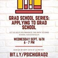 PSI CHI: Applying to Grad School