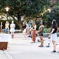 Sunday Student Mass on the Patio @8:30