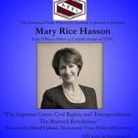 """APPI w Mary Rice Hasson: """"The Supreme Court, Civil Rights, and Transgenderism"""""""