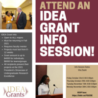 Attend an IDEA Grant Info Session!